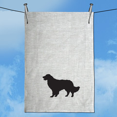 Golden Retriever Hand Screen Printed Pure Linen Tea Towel Free Shipping Australi