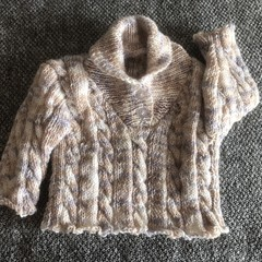 Newborn boy's cable jumper