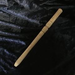 Hand crafted wooden Tasmanian Oak spurtle.