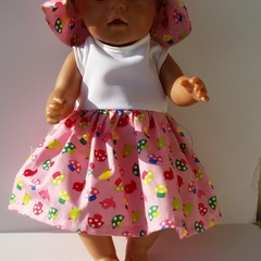 Doll clothes Dress and Hat for Baby Born doll