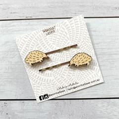 Echidna - Australian animal hair pins / hair clips