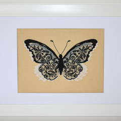 Black Butterfly on gold