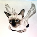 Cat memorial gift. Cat art. Cat painting. Custom pet portraits in watercolour.