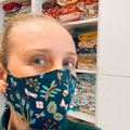 Cotton Face Mask ~ Teal Floral ~ 3 layers