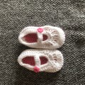 crochet Mary Jane shoes