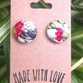 Chicken Fabric Studs 19mm