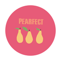 Set of 5 cute 38 x 38 mm circle stickers