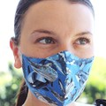 face mask, adjustable straps, 3 layers, 100% cotton