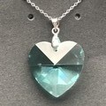 Vintage Swarovski® Antique Green 28mm Heart Pendant Necklace