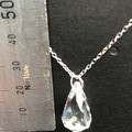 20mm Clear Swarovski® Spectra Faceted Teardrop Pendant Necklace