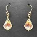16mm AB Crystal Baroque Swarovski® drop hook earrings