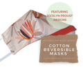 Reversible Face Mask: Jocelyn Proust Protea I with KIKIME case