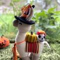 Halloween Llama Teddy Crochet Llama