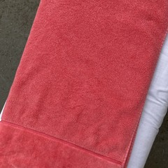 SALE/CLEARANCE: Bright Coral Personalised / Name Towel - Only 1 left!