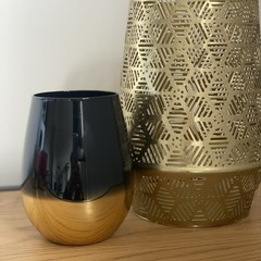 Large Black & Gold Candle Cuba Gold Type