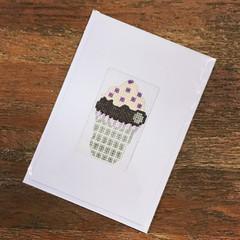 Purple/Silver Cupcake Card