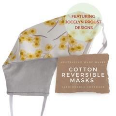 Reversible Face Mask: Jocelyn Proust Wattle with KIKIME case