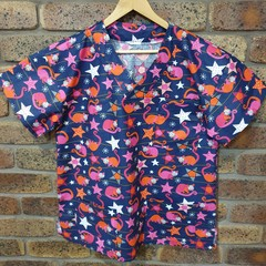 "Christmas Scrub Top ""Possums & Stars"""