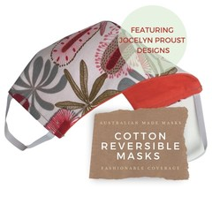 Reversible Face Mask: Jocelyn Proust Banksia with KIKIME case