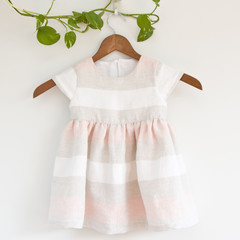 Eco Linen Toddler Dress Size 2