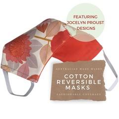 Reversible Face Mask: Jocelyn Proust Protea II with KIKIME case