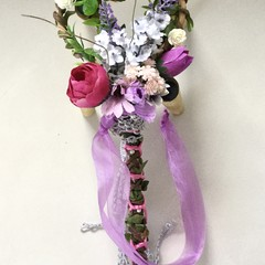 Woodland Faux Flower Girl Wand