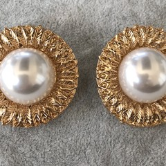 Unique Vintage Pearl Earrings For Women Art Deco Aesthetic Gift for Mum