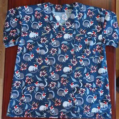 "Christmas Scrub Top ""Possums"""