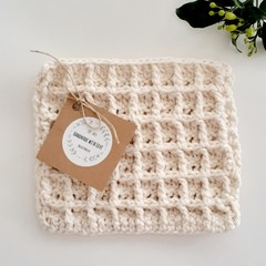 Handmade Reusable Eco Cotton Dishcloth Australian Made Sustainable Biodegradable