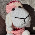 """Molly"" Handmade Crochet Sheep Toy, Sheep Amigurumi, Sheep Softie"