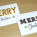 Christmas cards - 2 styles - marquee lights or gold balloons