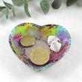 Rainbow trinket dish - heart