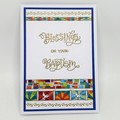 Baptism Card - Stained Glass Washi