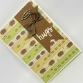 Hugs card - Echidnas and Leaves