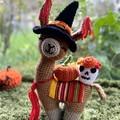 Halloween Llama Teddy Handmade Llama Toy