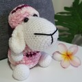 """Molly"" Handmade Crochet Sheep Toy, Sheep Amigurumi, Sheep Softie"