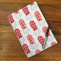 Note Pad Cover - Bottlebrush