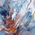 """Celestial Skies"" Triptych Trio Set 40.6 x 50.8cm each (16x20"") Wall Art"