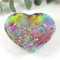 Rainbow trinket dish - heart