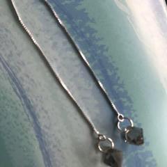 Black Diamond Bicone Swarovski® Crystal thread earrings
