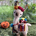 Llama Teddy Halloween Llama Handmade Toy
