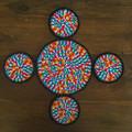 Coaster set with matching pot mat