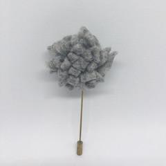 Grey Felt  Lapel Pin