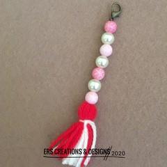 Pink Beaded Bag Buddy