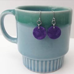 Fabric Drop Earrings - Purple Earrings