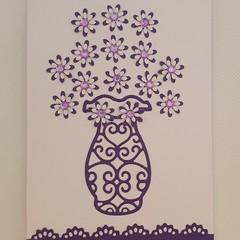 Greeting Card - 'Vase of Flowers'
