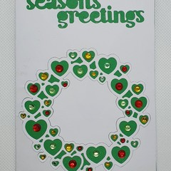 Christmas Card - 'Heart Wreath'