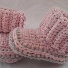 Booties Pink n Grey