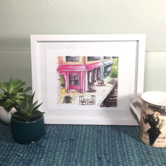 Street cafe Art Prints - Kitchen and dining room prints - 2 sizes available