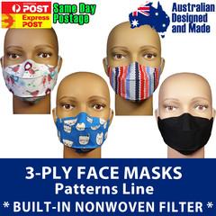 Luxury 3-Ply Face Mask - Washable Reusable, Premium Cotton, Gapless Design